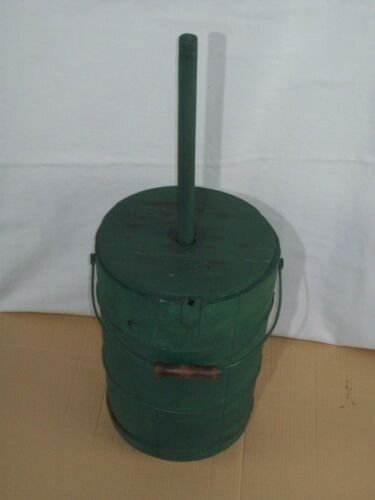 Primitive Wooden Bucket Butter Churn ~ Comes With Lid & Dasher
