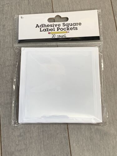 Target Adhesive Square Label Pockets Clear 20 Ct One Pack Ta