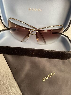 Gucci Sunglasses GG 2652/S 000 68-10 115 Gold Brown Made in Italy Preowned