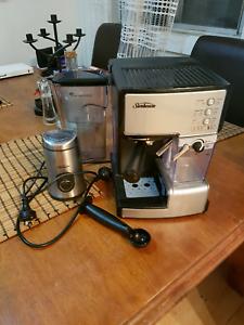 Sunbeam coffee espresso gumtree australia free local classifieds sunbeam cafe barista espresso machine plus grinder fandeluxe Images