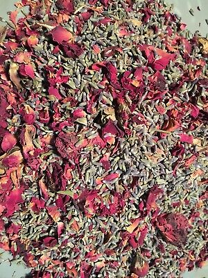 Bulk Fragrant Dried  Lavender and Roses 4 OZ Potpourri, Wedding Toss FREE SHIP