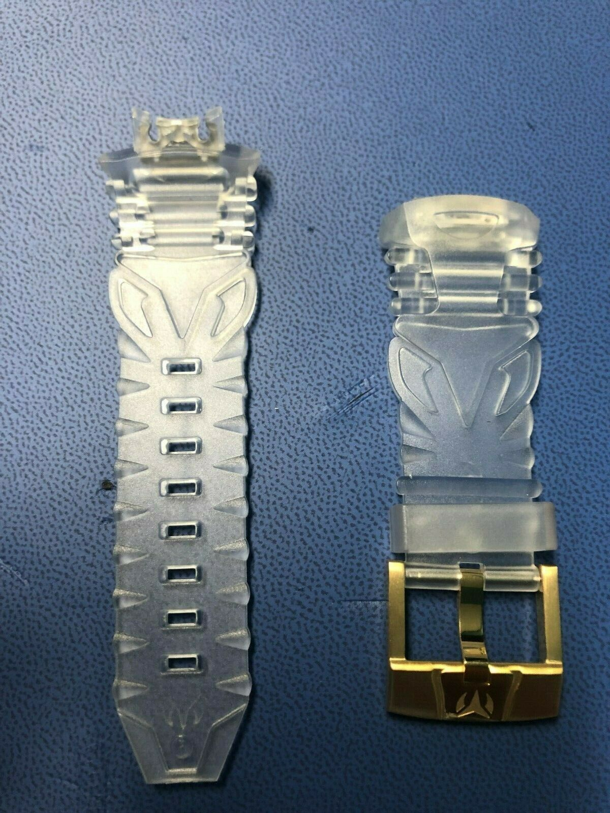 TechnoMarine Retro Clear Strap 45mm with Gold Buckle BUTTON