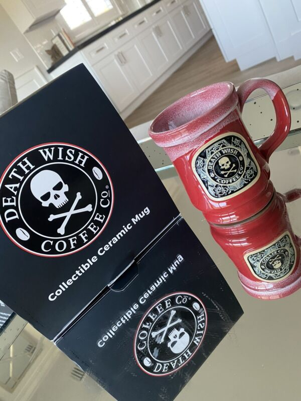 Death Wish Coffee Tough Mother Functioner Mug Red Black Roses Tattoo SOLD OUT