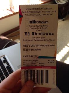 1x STANDING ED SHEERAN TICKET North Beach Stirling Area Preview