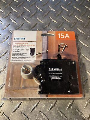 Qa115afcp - Siemens 15a Amp 1p Pole 120v Arc Fault Afci Afi Qaf2 Breaker - Nib