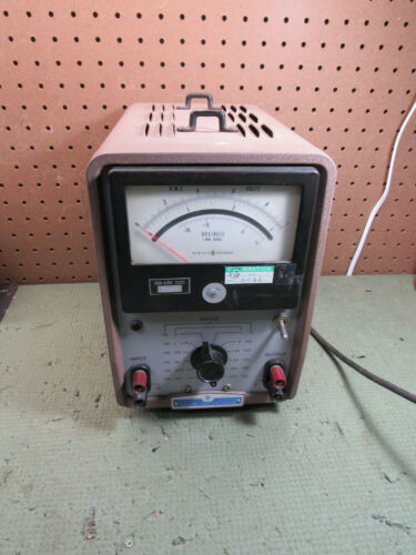 Vintage HP HEWLETT PACKARD MODEL 400H Vacuum Tube Voltmeter Paeco Transformer