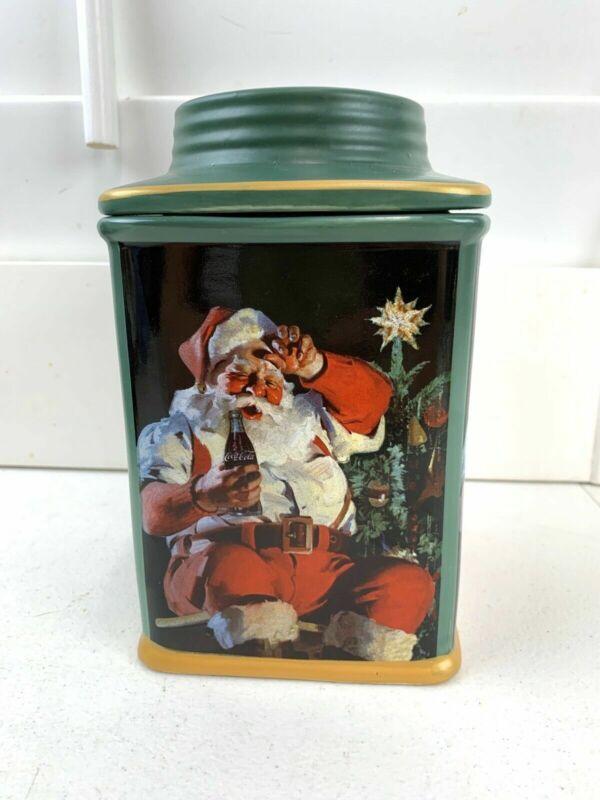 Coca-Cola Santa Christmas Cookie Jar SAKURA STONEWARE (2002)