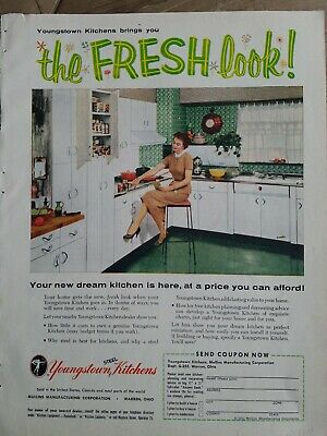 1955 Youngstown Steel white kitchen cabinets price you can afford vintage ad