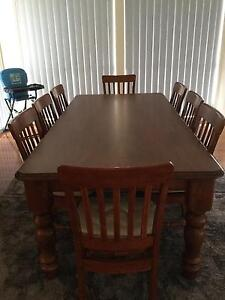 Dining Table with 8 Chairs also Matching Dresser. Bairnsdale East Gippsland Preview