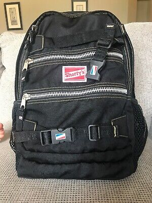 Shorty's Backpack Black Skateboard Backpack Vintage