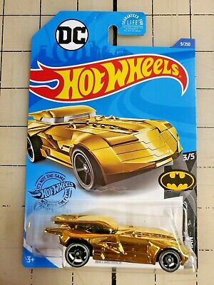 2020 Hot Wheels Batmobile DC Batman Gold 3/5