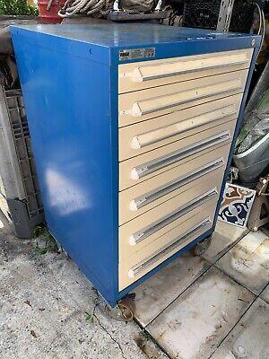 Stanley Vidmar 7 Drawer Tool Storage Cabinetdimension 30w X 27 34d X 51 14