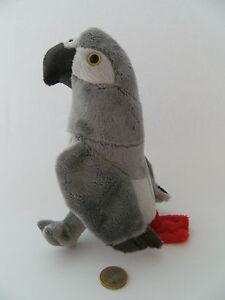 Plüschtier Graupapagei 20cm Stofftier Stofftiere Kuscheltier Papageien neu