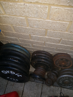 Weights bench and bars