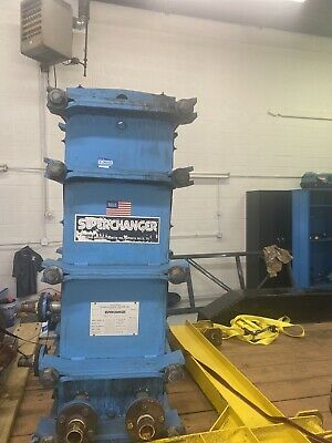 Tranter Ux-216hp-60 Superchanger Plate Heat Exchanger 234.1 Sq Ft Ss Plates