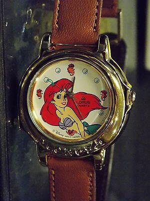 Womens Disney Lorus Vintage Little Mermaid Watch (Princess Ariel)Musical-HTF-New