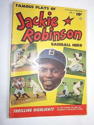 1952 Jackie Robinson Comic Book #6 Brooklyn Dodgers Fawcett Publication