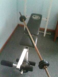 Weight bench with bar and weights Grafton Clarence Valley Preview