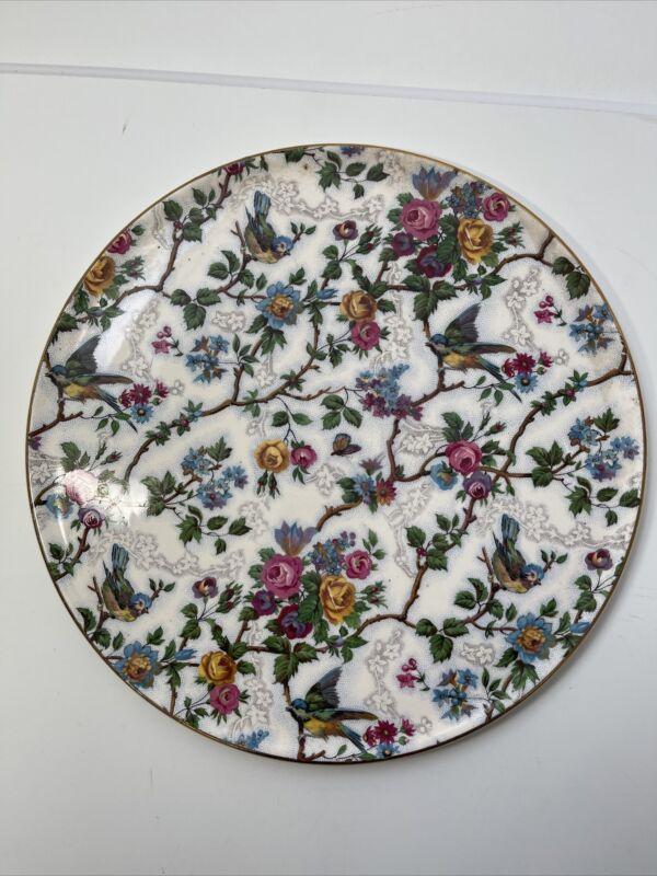 "Vintage Royal Tudor Ware Barker Bros England 11"" cake plate  Lorna Doone Chintz"