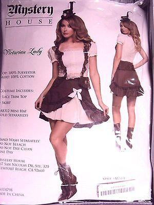 Mystery House Frauen Sexy Viktorianische Dame Top/Rock Kostüm Halloween M1413 - Sexy Viktorianische Kostüm