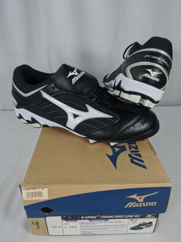 NIB MIZUNO  9-Spike Franchise Low G5 Baseball Cleats Black Size 13