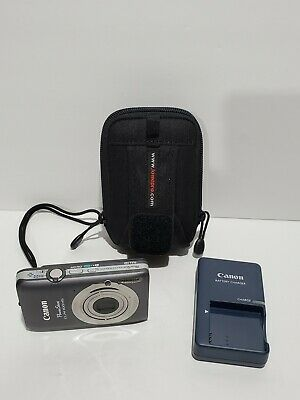 Canon PowerShot ELPH 100 HS 12.1MP Digital Camera Gray w/ Battery Case Charger