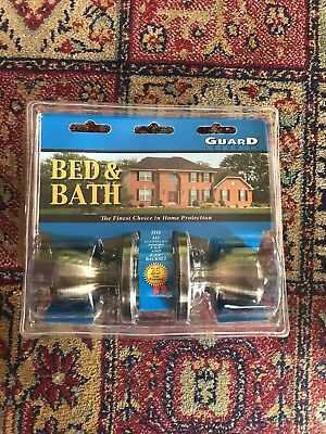 Bed And Bath Door Knob Satin Nickel Finish By Guard Security 3007AB Brand New