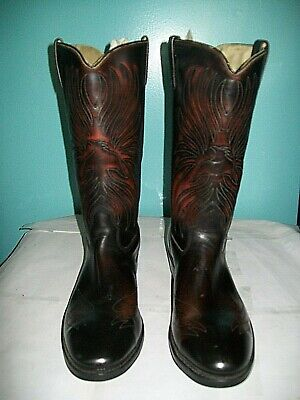 Iron Age Steel Toe Brown Cowboy Boots, Men's Size 11