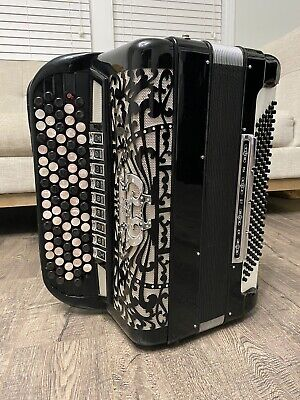 🏅Alberto Morbidoni castelfidardo chromatic button Accordion.