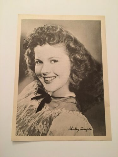 S11) Vintage 1946 Shirley Temple Actress 7x10 Publicity Biography Photograph