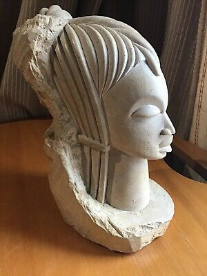 Statue Sculpture Africa Gabon Bust of Woman Rock Bacon 2,780 KG