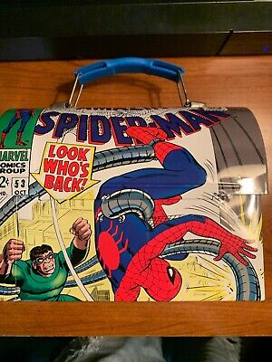 Retro Marvel Steve Ditko Amazing Spider-Man Issue #53 Small Tin Metal Lunch Box