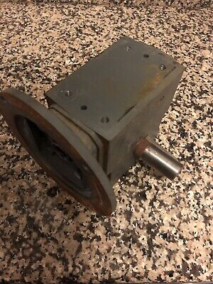 Boston Gear Speed Reducer 601 Ratio 90 Degree Worm Motor Reduction
