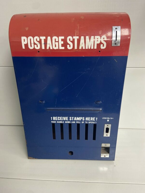 Vintage Stamp vending coin op U.S. Postal Service Vending Machine Stamps quarter