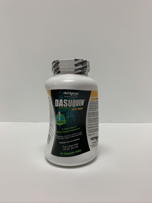 Nutramax Dasuquin With MSM - 84 Chewable Tablets Exp: 04/2024 Dented Box