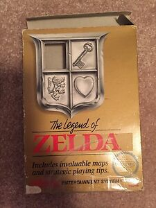The Legend of Zelda with box and instructions