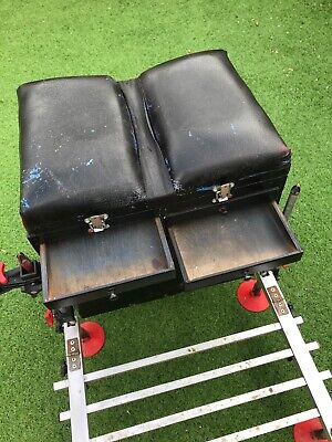 coarse fishing tackle seat box with attachments and foot plate