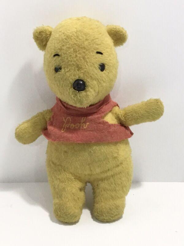 Vintage Winnie The Pooh Plush RARE With Hard Plastic Nose & Eyes Disney