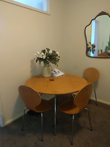 Dining table and three chairs Wollstonecraft North Sydney Area Preview