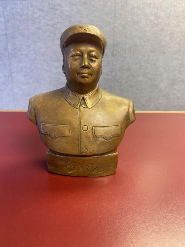 Vintage Communist Mao Zedong Statue