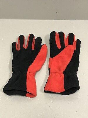 Target boys fleece- like black and red gloves (not waterproof)