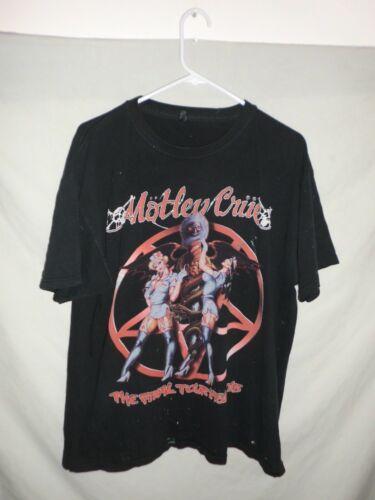 MOTLEY CRUE final tour t-shirt XL 2015 ASIS distressed black band metal concert