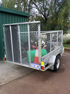 A Great 8x5 Cage Galvanised Trailer with Heavy Duty Ramp Rockingham Rockingham Area Preview