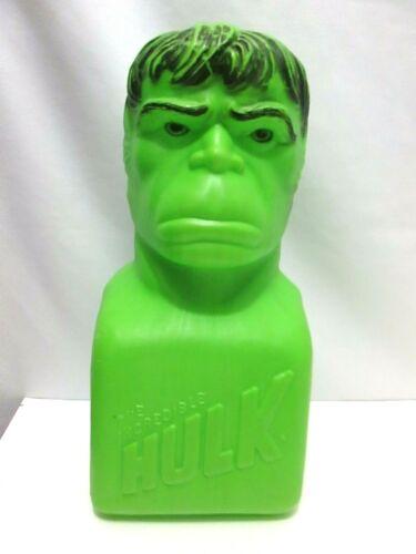 "Vintage Marvel Comics 15"" Incredible Hulk Plastic Blow Mold Bank 1978"