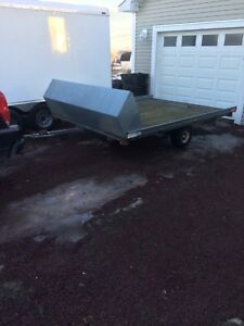 Double galvanized ski-doo Trailer like new