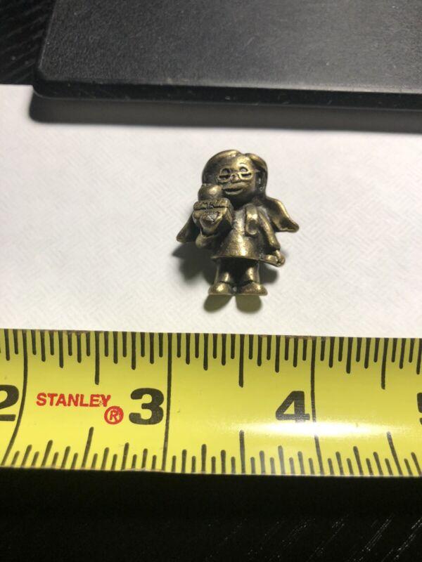 Small Pewter Teacher Figure Lapel Pin BB6.