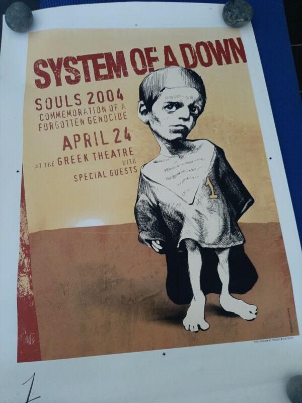 System of a down poster from 2004 Souls event