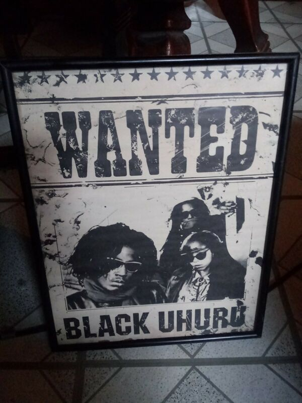"Black Uhuru Vintage 1986 Framed Wanted - The Great Train Robbery 11""x15"" Poster"