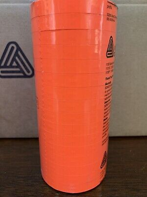 Genuine Monarch 1110 Fluorescent Red Pricing Labels 16 Rolls