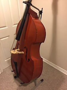 Upright bass with stand and bow $950